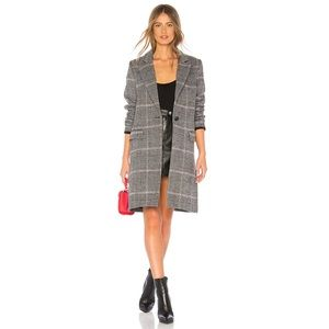 Rails Anders Coat in Charcoal Pink Plaid
